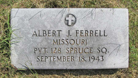 FERRELL (VETERAN), ALBERT J - Benton County, Arkansas | ALBERT J FERRELL (VETERAN) - Arkansas Gravestone Photos