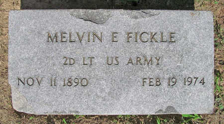 FICKLE (VETERAN), MELVIN E - Benton County, Arkansas | MELVIN E FICKLE (VETERAN) - Arkansas Gravestone Photos