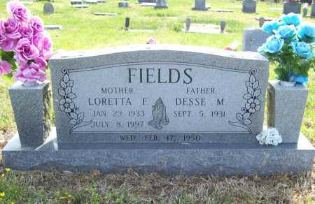 FIELDS, DESSE MCKINLEY - Benton County, Arkansas | DESSE MCKINLEY FIELDS - Arkansas Gravestone Photos