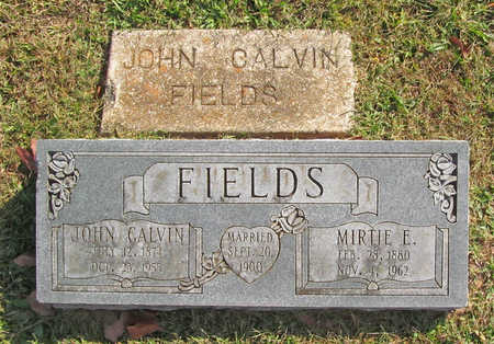 FIELDS, JOHN CALVIN - Benton County, Arkansas | JOHN CALVIN FIELDS - Arkansas Gravestone Photos
