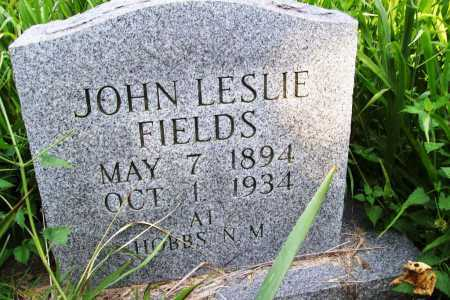 FIELDS, JOHN LESLIE - Benton County, Arkansas | JOHN LESLIE FIELDS - Arkansas Gravestone Photos