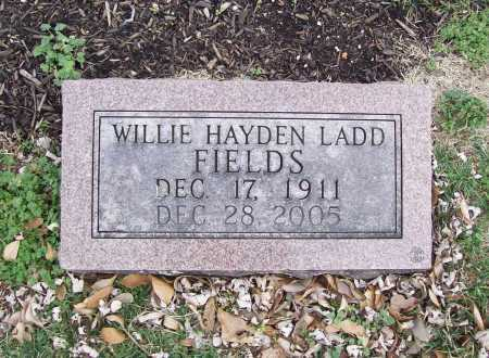 FIELDS, WILLIE HAYDEN - Benton County, Arkansas | WILLIE HAYDEN FIELDS - Arkansas Gravestone Photos