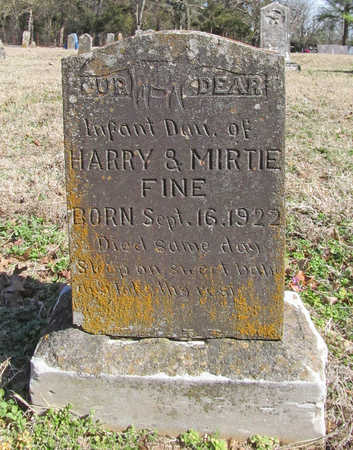 FINE, INFANT DAUGHTER - Benton County, Arkansas | INFANT DAUGHTER FINE - Arkansas Gravestone Photos