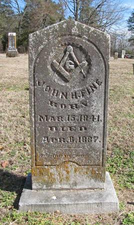 FINE (VETERAN CSA), JOHN H - Benton County, Arkansas | JOHN H FINE (VETERAN CSA) - Arkansas Gravestone Photos