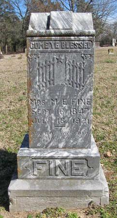 FINE, MRS. M. E. - Benton County, Arkansas | MRS. M. E. FINE - Arkansas Gravestone Photos