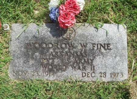 FINE (VETERAN WWII), WOODROW W - Benton County, Arkansas | WOODROW W FINE (VETERAN WWII) - Arkansas Gravestone Photos