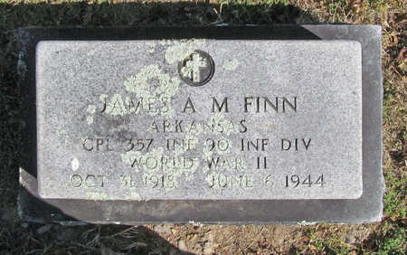 FINN (VETERAN WWII), JAMES A M - Benton County, Arkansas | JAMES A M FINN (VETERAN WWII) - Arkansas Gravestone Photos