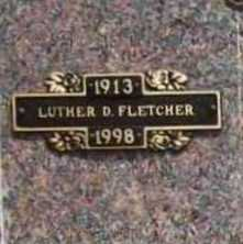 FLETCHER, LUTHER D. - Benton County, Arkansas | LUTHER D. FLETCHER - Arkansas Gravestone Photos