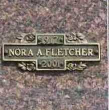 FLETCHER, NORA A. - Benton County, Arkansas | NORA A. FLETCHER - Arkansas Gravestone Photos
