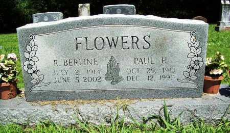 FLOWERS, R. BERLINE - Benton County, Arkansas | R. BERLINE FLOWERS - Arkansas Gravestone Photos