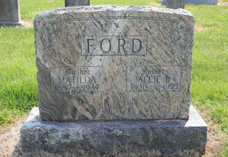 FORD, ALLIE B. - Benton County, Arkansas | ALLIE B. FORD - Arkansas Gravestone Photos