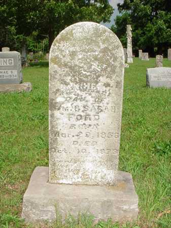 FORD, ANNA F. - Benton County, Arkansas | ANNA F. FORD - Arkansas Gravestone Photos