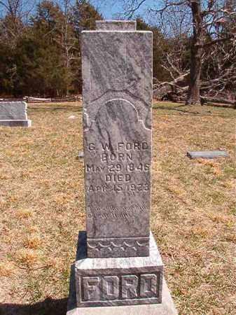 FORD, G. W. - Benton County, Arkansas   G. W. FORD - Arkansas Gravestone Photos