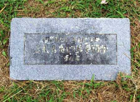 FORD, INFANT SON - Benton County, Arkansas | INFANT SON FORD - Arkansas Gravestone Photos