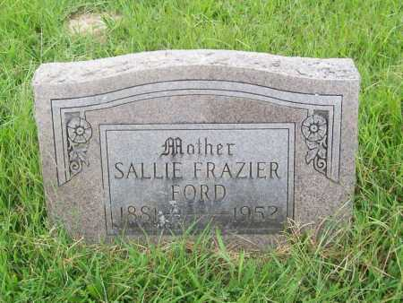 FRAZIER FORD, SALLIE - Benton County, Arkansas | SALLIE FRAZIER FORD - Arkansas Gravestone Photos