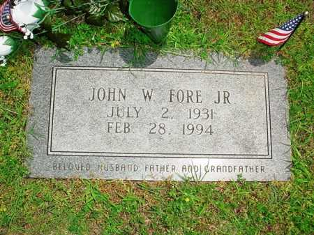 FORE, JOHN W JR - Benton County, Arkansas | JOHN W JR FORE - Arkansas Gravestone Photos
