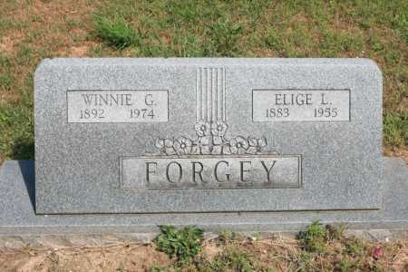 BOWMAN FORGEY, WINNIE G - Benton County, Arkansas | WINNIE G BOWMAN FORGEY - Arkansas Gravestone Photos