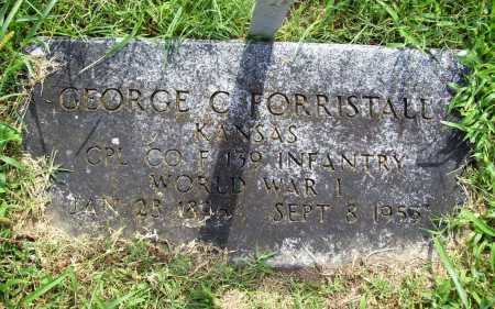 FORRISTALL (VETERAN WWI), GEORGE C. - Benton County, Arkansas | GEORGE C. FORRISTALL (VETERAN WWI) - Arkansas Gravestone Photos