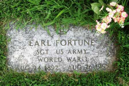 FORTUNE (VETERAN WWI), EARL - Benton County, Arkansas | EARL FORTUNE (VETERAN WWI) - Arkansas Gravestone Photos