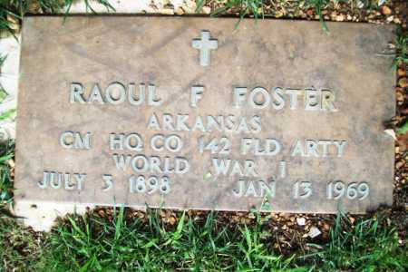 FOSTER (VETERAN WWI), RAOUL F. - Benton County, Arkansas | RAOUL F. FOSTER (VETERAN WWI) - Arkansas Gravestone Photos
