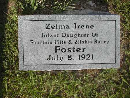 FOSTER, ZELMA IRENE - Benton County, Arkansas | ZELMA IRENE FOSTER - Arkansas Gravestone Photos