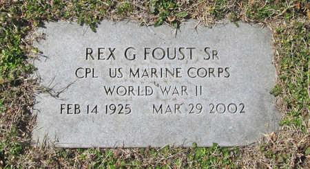 FOUST (VETERAN WWII), REX GLYN SR - Benton County, Arkansas | REX GLYN SR FOUST (VETERAN WWII) - Arkansas Gravestone Photos