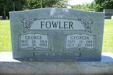 FOWLER, GEORGE - Benton County, Arkansas | GEORGE FOWLER - Arkansas Gravestone Photos
