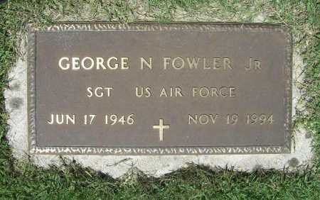 FOWLER (VETERAN), GEORGE N. - Benton County, Arkansas | GEORGE N. FOWLER (VETERAN) - Arkansas Gravestone Photos