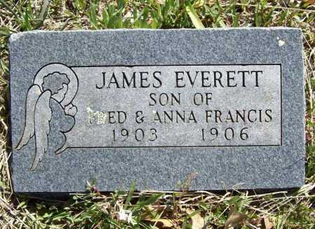FRANCIS, JAMES EVERETT - Benton County, Arkansas | JAMES EVERETT FRANCIS - Arkansas Gravestone Photos