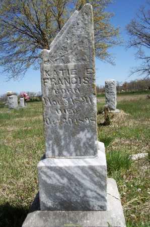 FRANCIS, KATIE E. - Benton County, Arkansas | KATIE E. FRANCIS - Arkansas Gravestone Photos