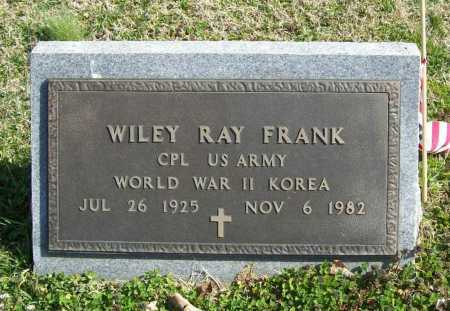 FRANK (VETERAN 2 WARS), WILEY RAY - Benton County, Arkansas | WILEY RAY FRANK (VETERAN 2 WARS) - Arkansas Gravestone Photos