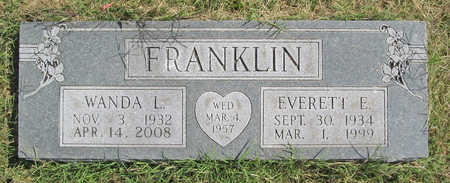 FRANKLIN, EVERETT E. - Benton County, Arkansas | EVERETT E. FRANKLIN - Arkansas Gravestone Photos