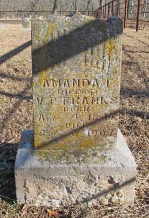 FRANKS, AMANDA F. - Benton County, Arkansas | AMANDA F. FRANKS - Arkansas Gravestone Photos