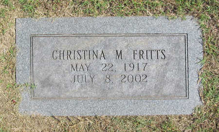 CARSON FRITTS, CHRISTINA M. - Benton County, Arkansas | CHRISTINA M. CARSON FRITTS - Arkansas Gravestone Photos