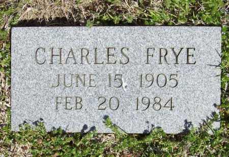FRYE, CHARLES - Benton County, Arkansas | CHARLES FRYE - Arkansas Gravestone Photos