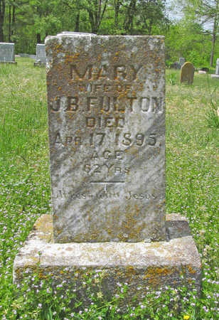 FULTON, MARY - Benton County, Arkansas | MARY FULTON - Arkansas Gravestone Photos