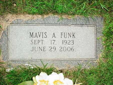 FUNK, MAVIS A. - Benton County, Arkansas | MAVIS A. FUNK - Arkansas Gravestone Photos