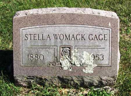 WOMACK GAGE, STELLA - Benton County, Arkansas | STELLA WOMACK GAGE - Arkansas Gravestone Photos