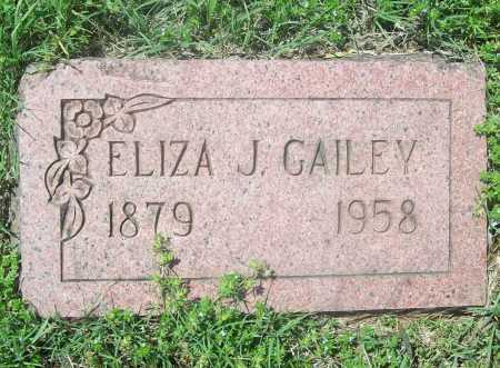 GAILEY, ELIZA J. - Benton County, Arkansas | ELIZA J. GAILEY - Arkansas Gravestone Photos