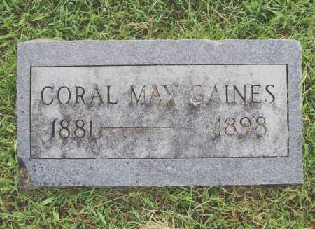 GAINES, CORAL MAY - Benton County, Arkansas | CORAL MAY GAINES - Arkansas Gravestone Photos