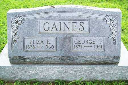 GAINES, GEORGE T. - Benton County, Arkansas | GEORGE T. GAINES - Arkansas Gravestone Photos