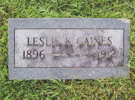 GAINES, LESLIE K. - Benton County, Arkansas | LESLIE K. GAINES - Arkansas Gravestone Photos