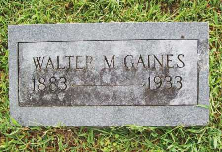 GAINES, WALTER M. - Benton County, Arkansas | WALTER M. GAINES - Arkansas Gravestone Photos