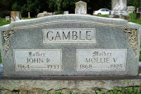 GAMBLE, MOLLIE VIRGINIA - Benton County, Arkansas | MOLLIE VIRGINIA GAMBLE - Arkansas Gravestone Photos