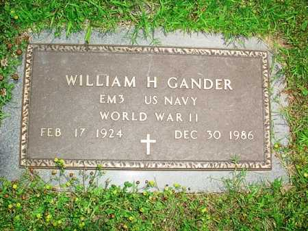 GANDER (VETERAN WWII), WILLIAM H. - Benton County, Arkansas | WILLIAM H. GANDER (VETERAN WWII) - Arkansas Gravestone Photos