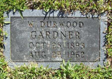 GARDNER, W. DURWOOD - Benton County, Arkansas | W. DURWOOD GARDNER - Arkansas Gravestone Photos