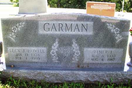 HOWELL GARMAN, LUCY J. - Benton County, Arkansas | LUCY J. HOWELL GARMAN - Arkansas Gravestone Photos