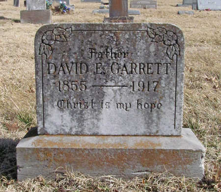 GARRETT, DAVID E - Benton County, Arkansas | DAVID E GARRETT - Arkansas Gravestone Photos