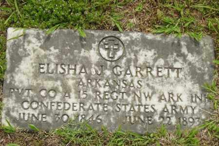 GARRETT (VETERAN CSA), ELISHA JOHN - Benton County, Arkansas | ELISHA JOHN GARRETT (VETERAN CSA) - Arkansas Gravestone Photos
