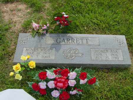 WIGHT GARRETT, WINNIE AGNES - Benton County, Arkansas | WINNIE AGNES WIGHT GARRETT - Arkansas Gravestone Photos
